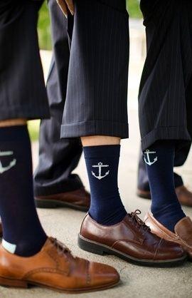 Nautical Wedding Groomsmen's Socks