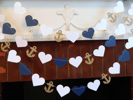 Navy and White Beach wedding Decor