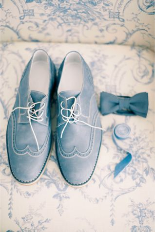 Slate and Dusty Blue Wedding Shoes