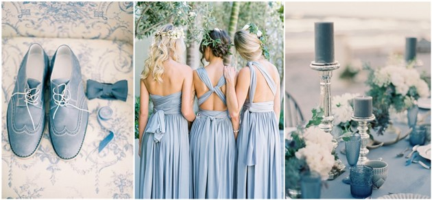 Wedding Inspiration Dusty Blue Wedding  Color  Ideas