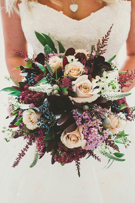 Chic Colorful Winter Wedding Flowers