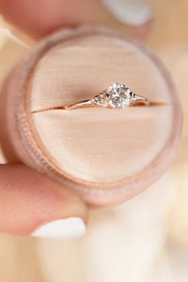 cute and lovely engagement ring