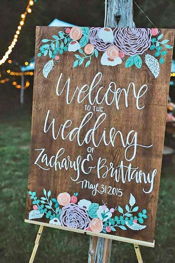 cute creative wedding sign