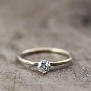 Top 21 simple engagement rings for classic brides elegant diamond engagement ring cute simple junglespirit Images
