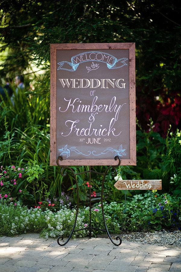 elegant diy wedding welcome sign