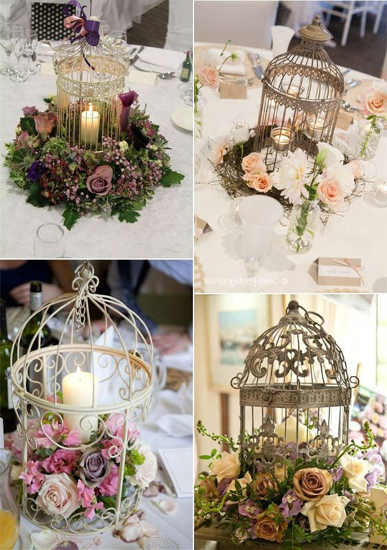 floral birdcage wedding decoration ideas
