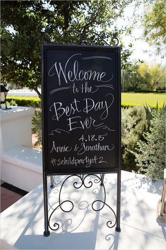 Gorgeous Country Wedding Welcome Signs