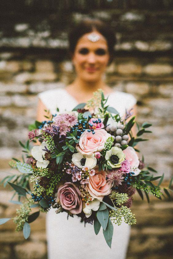 gorgeous vintage autumn wedding bouquets