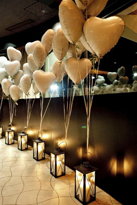 heart shaped balloon decoration ideas