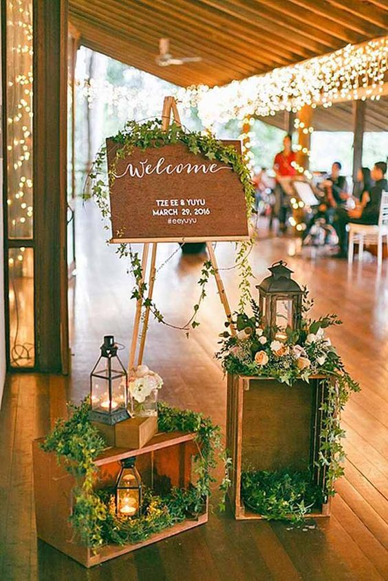 ideal wedding welcome sign