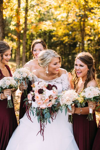 lovely and vintage fall wedding bouquets