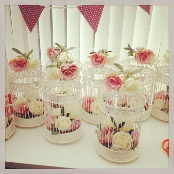 lovely vintage birdcage for your wedding centerpieces
