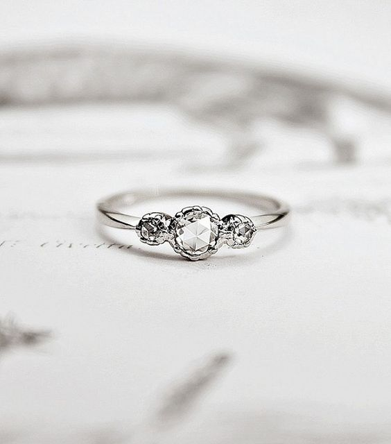 simple and subtle engagement ring