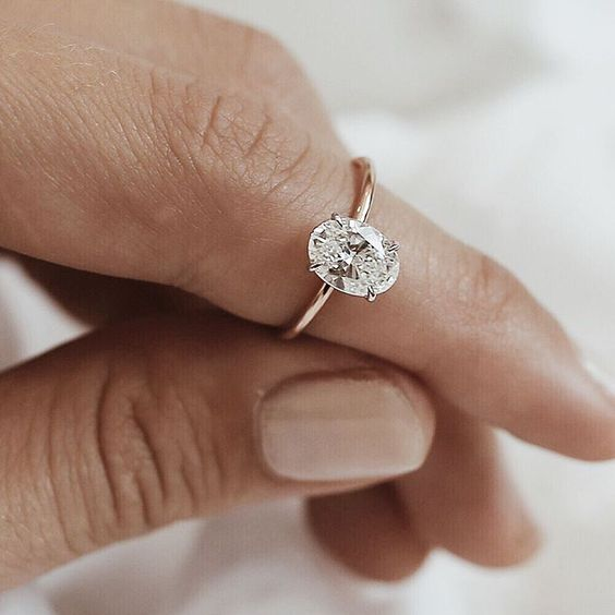 simple oval ring for engagement