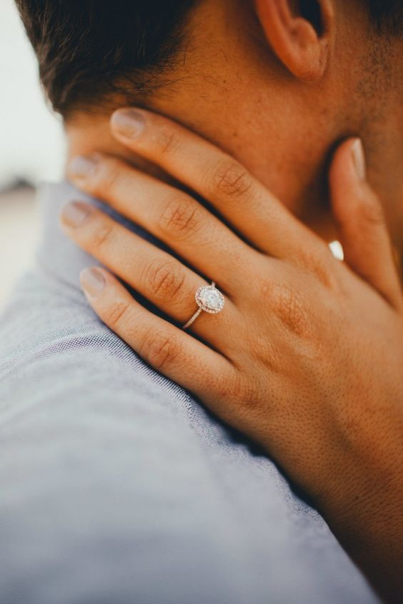 simple romantic engagement ring