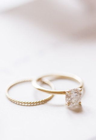 simple thin engagement band