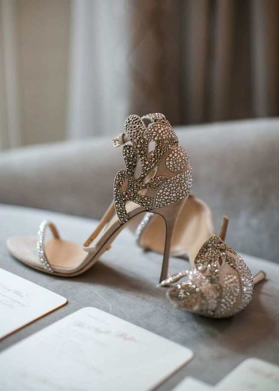 soft and romantic bridal shoes