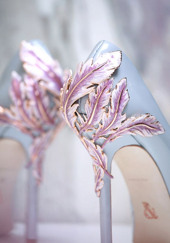 stunning fairy tale wedding shoes