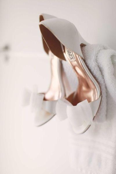 sweet white wedding shoes