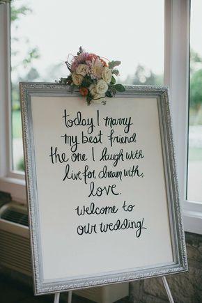 vintage photo frame wedding sign