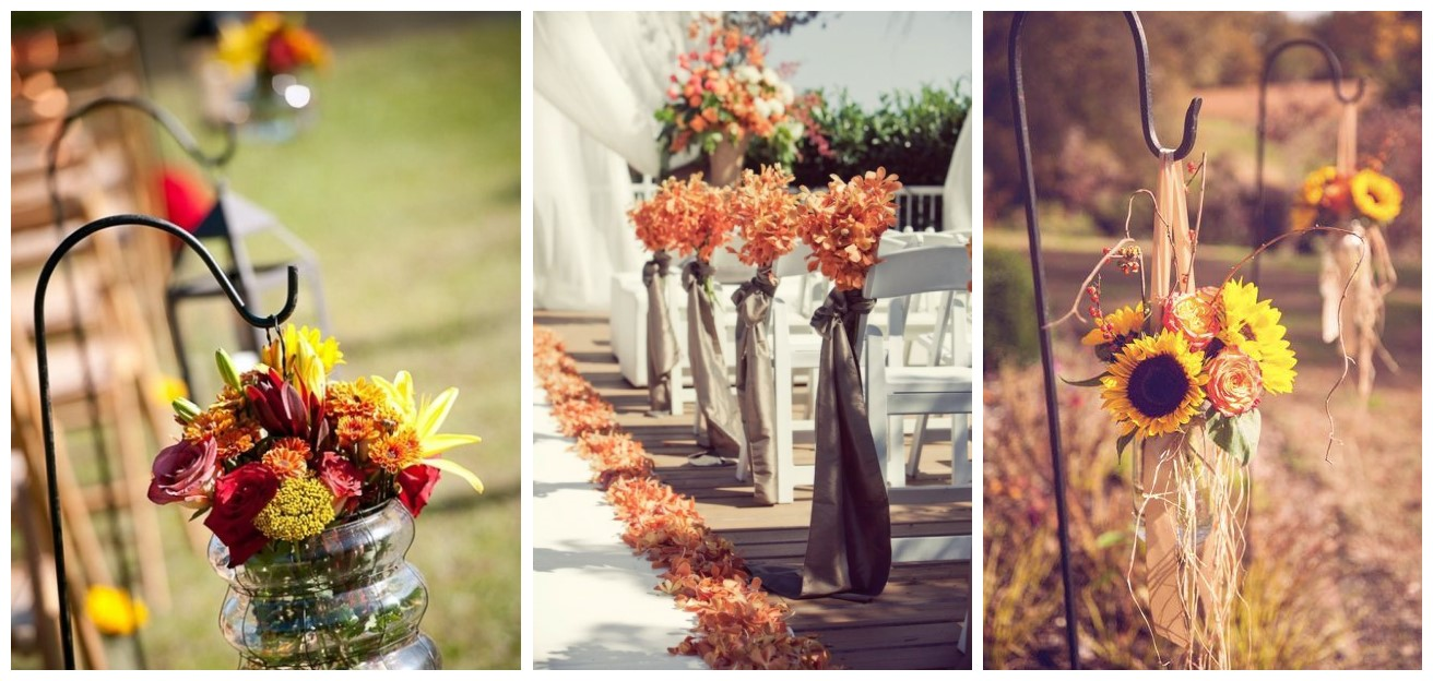 29 Awesome Wedding Aisle Decorations For Fall