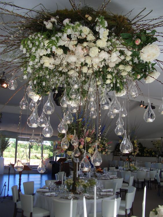 Floral chandelier to rock