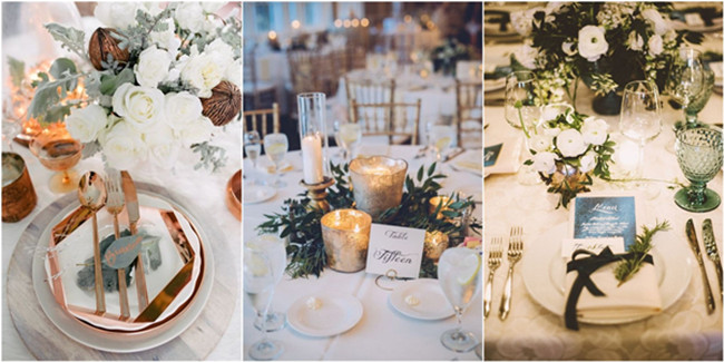 Romance and Warmth-- 29 Genius Winter Wedding Table Setting Ideas
