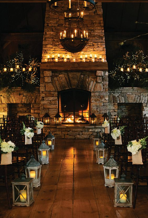 amazing candlelight lantern decorations for fall wedding