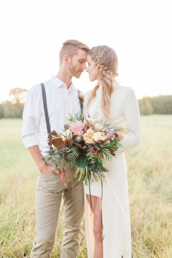 autumn boho elopement idea