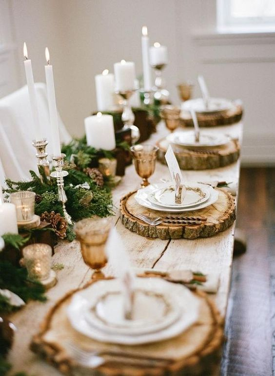 Romance and Warmth 29 Genius Winter Wedding Table Setting Ideas