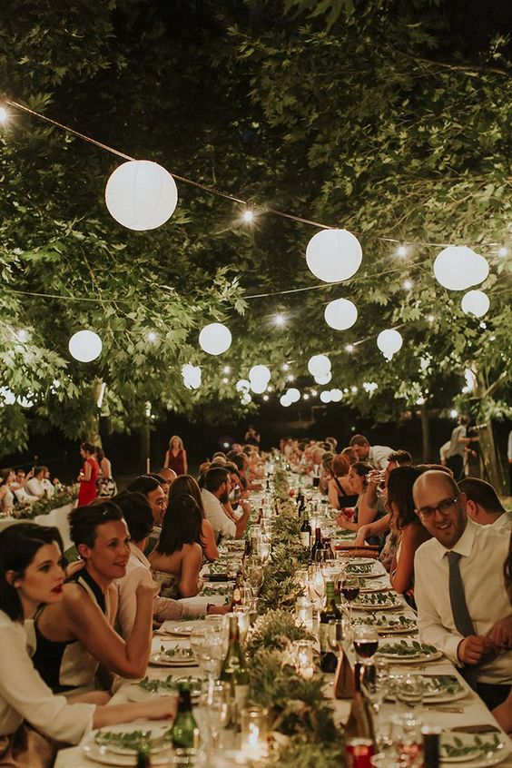 beautiful and stylish tuscan wedding reception