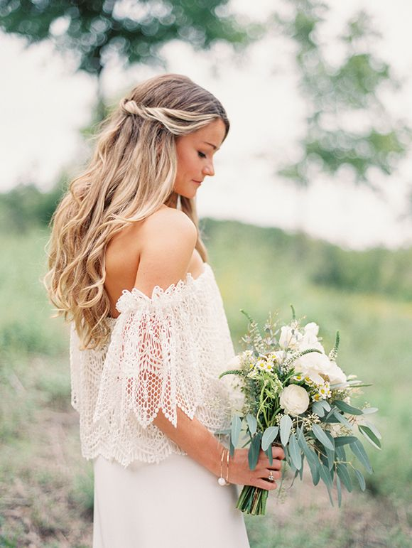 bohemian wedding hairstyle to steal