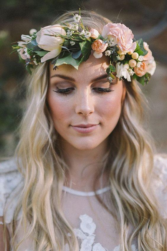 boho inspired bridal hairstyle