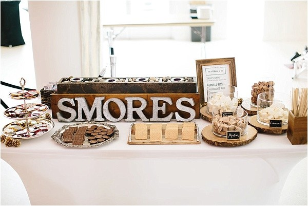charming shabby chic s'more station