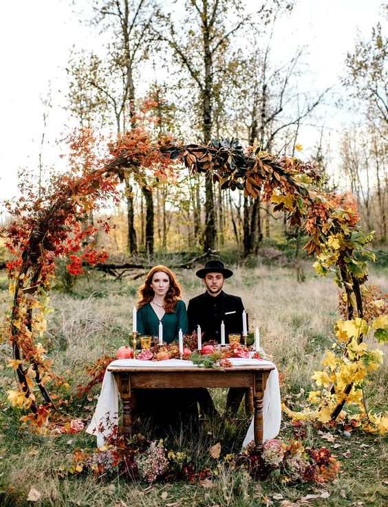 chic and rust fall wedding