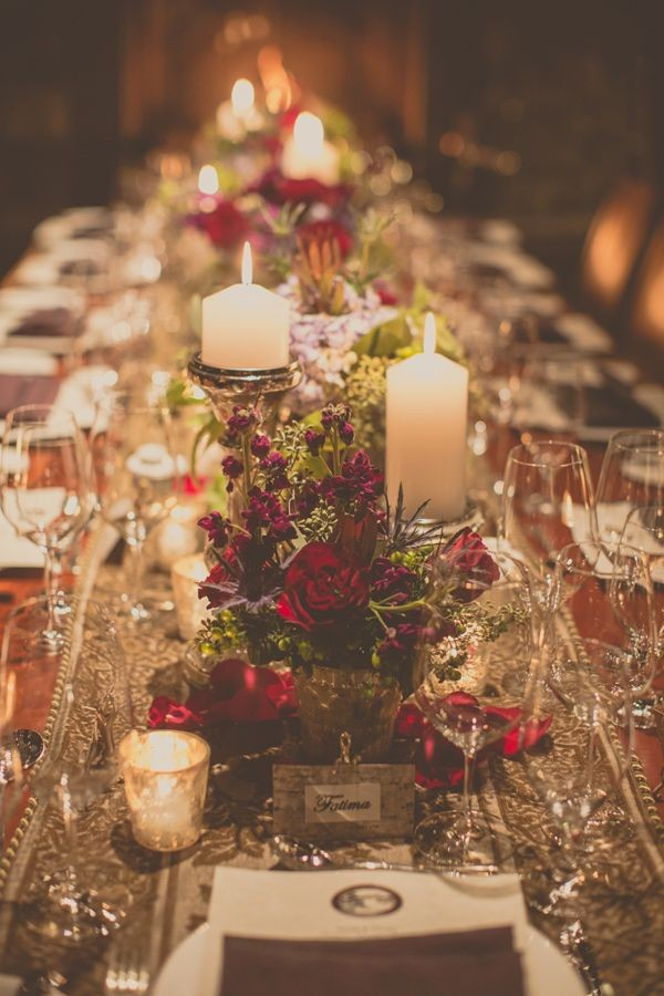 Romance and Warmth-- 29 Genius Winter Wedding Table Setting Ideas ...