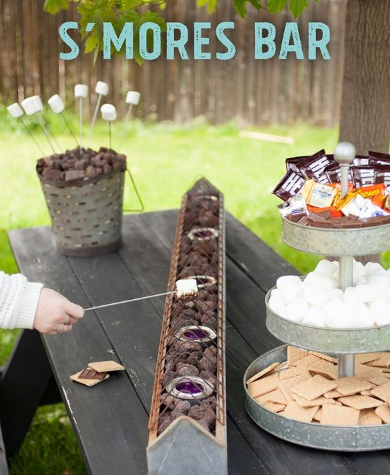 creative handmade s'more station