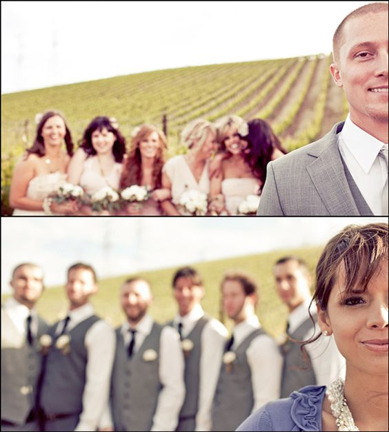 creative vineyard wedding with group photo ideas