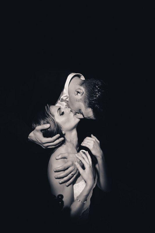 elegant and charming wedding kiss photo