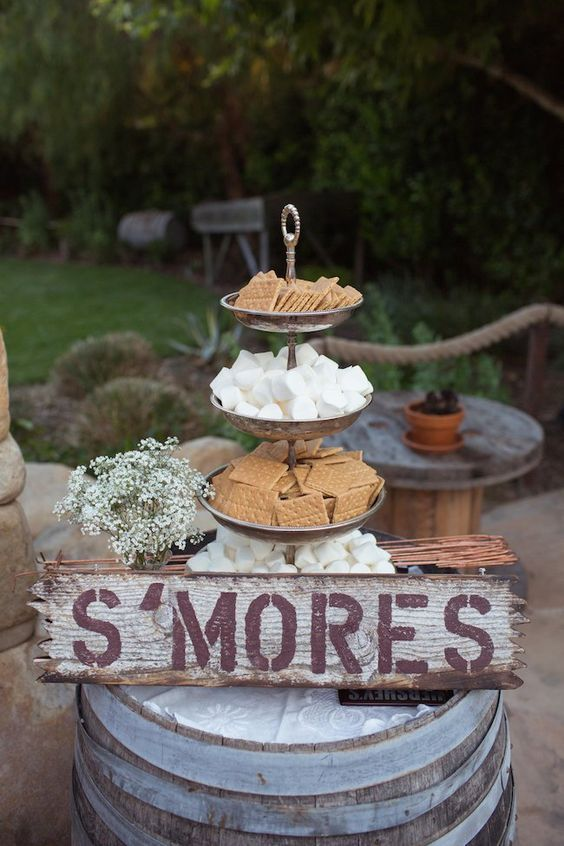 elegant s'more bar idea