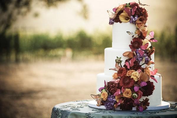 fall wedding cake with amazing details