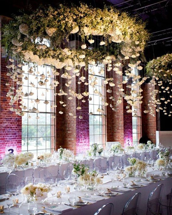 floral hanging decorations for your big day