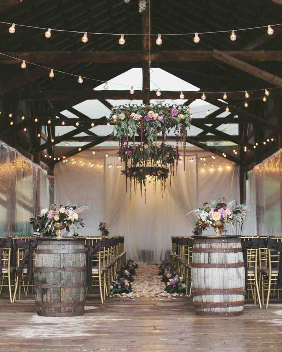 floral wedding chandelier for outdoor nuptial