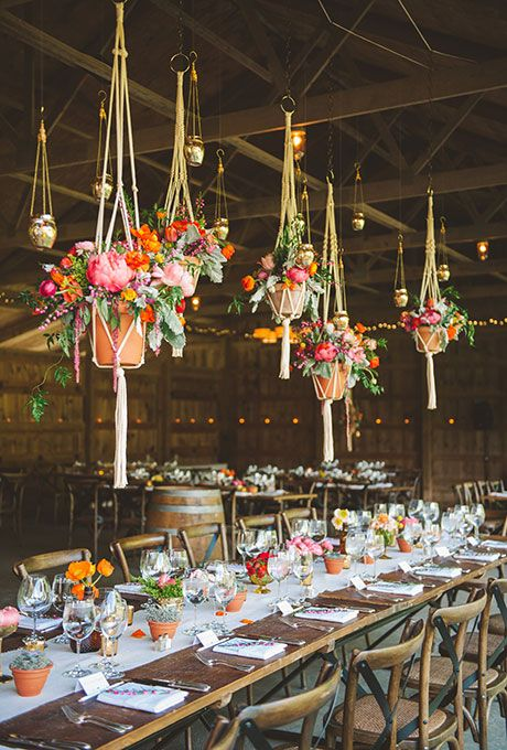 fresh florals and greenery wedding decor