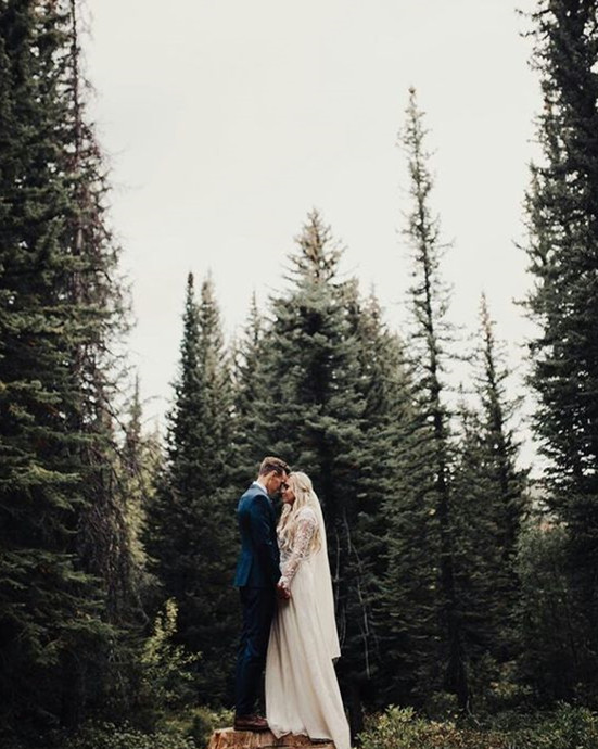 fun and creative forest fall elopement
