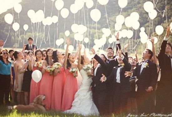 great group photos for outdoor wedding
