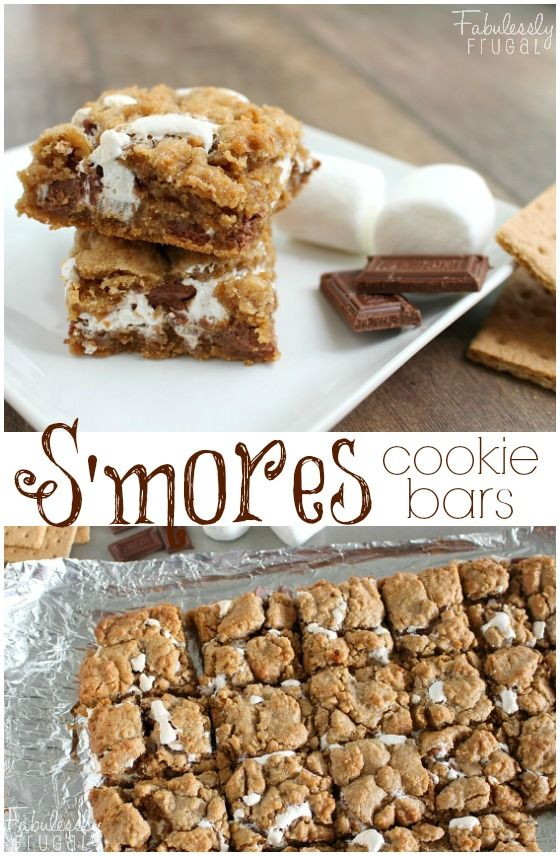 handmade s'more cookie bar idea