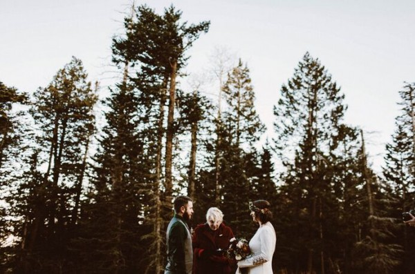 impressive intimate forest wedding
