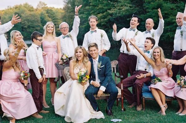Idéia íntima de fotografia de casamento ao ar livre