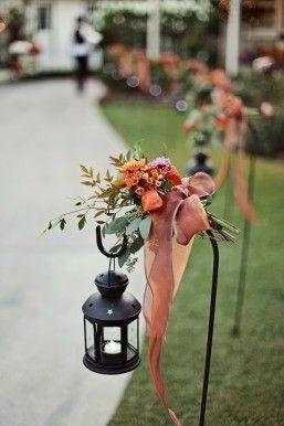 lighten up the fall wedding with lanterns